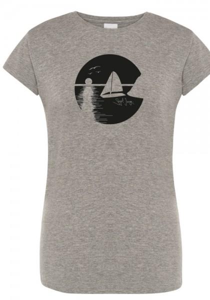 Segeljungs Damen Shirt - Sunset - grau