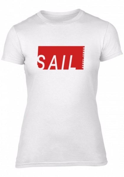 Segeljungs Damen Shirt - Sail - weiß