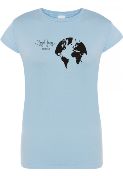 Segeljungs Damen Shirt - Segel Junge - hellblau