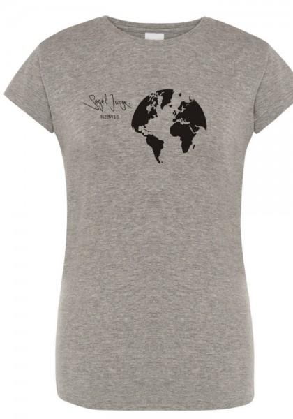 Segeljungs Damen Shirt - Segel Junge - grau