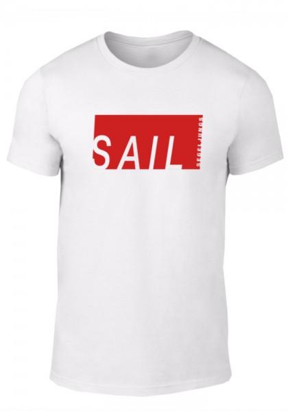 Segeljungs Herren Shirt - Sail - weiß