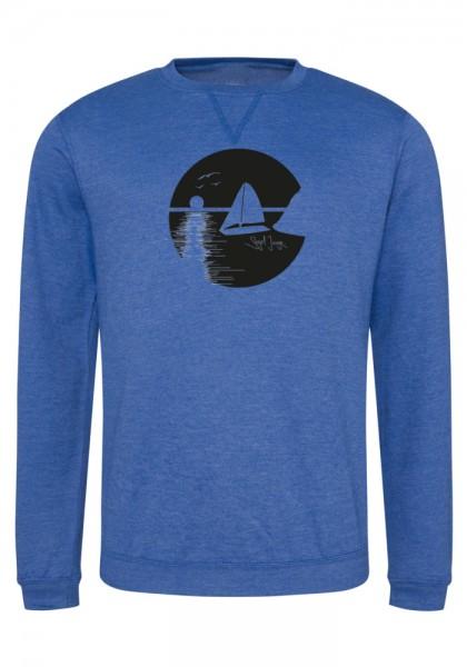 Segeljungs Herren Sweatshirt - Sunset - blau