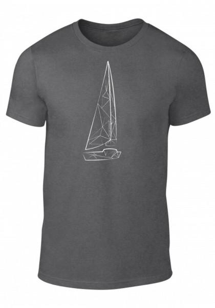 Segeljungs Herren Shirt - Sail Boat - dunkel grau