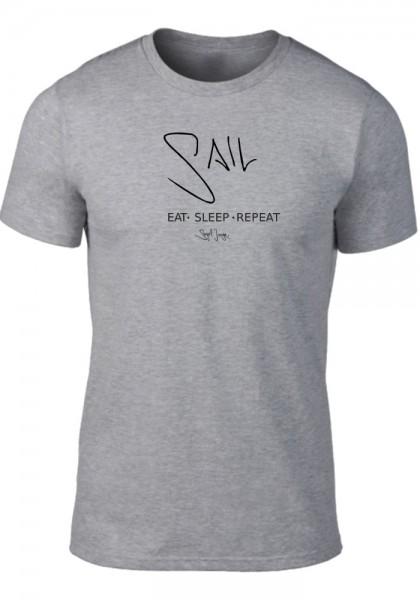 Segeljungs Herren Shirt - Eat Sleep Repeat - grau